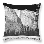 Rock Formation Yosemite National Park California Throw Pillow