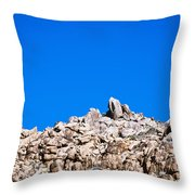 Rock Formations And Blue Sky Throw Pillow