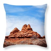 Rock Formations At Kodachrome Basin State Park, Usa Throw Pillow