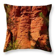Rock Formations Created By Erosion Throw Pillow