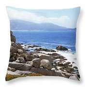 Rock Formations On The Coast, 17-mile Throw Pillow