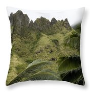Rock Formations Seen Through Coconut Throw Pillow