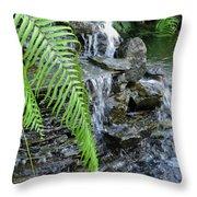 Rock Fountain II Throw Pillow