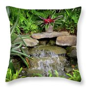 Rock Fountain IIi Throw Pillow