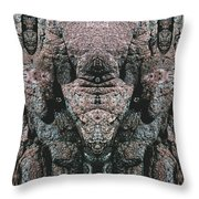 Rock Gods Elephant Stonemen Of Ogunquit Throw Pillow