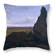 Rock In Montserrat Throw Pillow