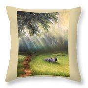 Rock In Sunlight Throw Pillow