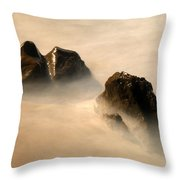 Rock In The Ocean Throw Pillow