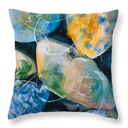 Rock In Water Throw Pillow
