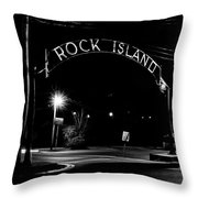 Rock Island Entrance Throw Pillow