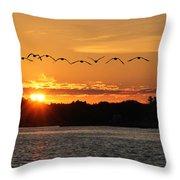Rock Island Lighthouse Throw Pillow