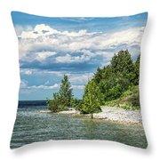 Rock Island Summer Throw Pillow