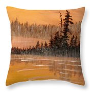 Rock Lake Morning 3 Throw Pillow