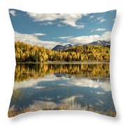 Rock Lake Throw Pillow