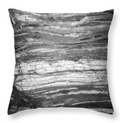 Rock Lines B W Throw Pillow