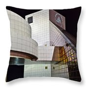 Rock Music Hall Of Fame Throw Pillow