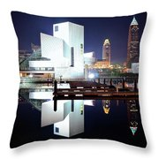 Rock N Roll Hall Of Fame Throw Pillow