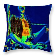 Rock 'n' Roll The Cosmic Blues Throw Pillow