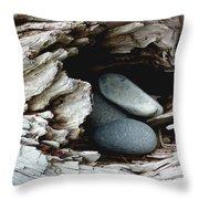 Rock Nest Throw Pillow