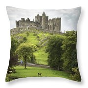 Rock Of Cashel Cashel County Tipperary Throw Pillow