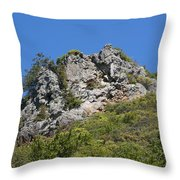 Rock On Tamalpais Throw Pillow