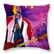 Rock On Tom Throw Pillow