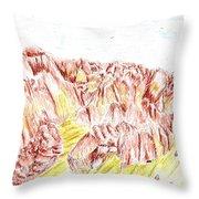 Rock Outcrop Throw Pillow