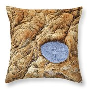 Rock Pattern With Pebble Throw Pillow
