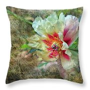 Rock Peony Throw Pillow
