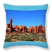 Rock Pillar Sandstone Hoodoos Arces National Park Throw Pillow