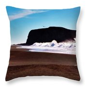 Rock Point In Bodega Bay Throw Pillow