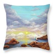 Rock Pools, Seascape Throw Pillow