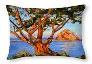 Rock Reflection - Morro Bay Throw Pillow