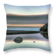 Rock Reflections Throw Pillow