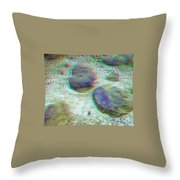 Rock Shapes 3 -use Red And Cyan 3d Glasses Throw Pillow