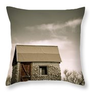Rock Shed Throw Pillow