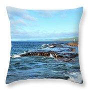 Rock Shore Throw Pillow