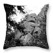 Rock Spirits At Yosemite B And W Throw Pillow