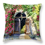 Rock Springs Gate Throw Pillow