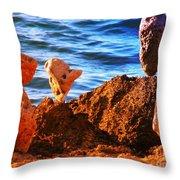 Rock Stacking Throw Pillow