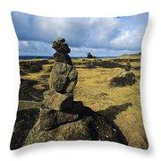 Rock Stacks Throw Pillow