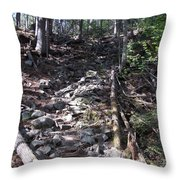 Rock Staircase Throw Pillow