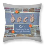 Rock That Is Higher Spanish Throw Pillow