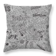 Rock Timeline Throw Pillow