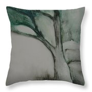 Rock Tree Throw Pillow