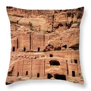 Rock Village In Petra Throw Pillow