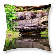 Rock Wall Reflections Throw Pillow