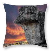 Rock Wallpaper Throw Pillow