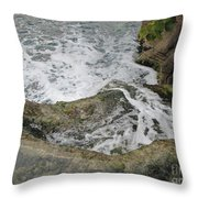 Rock Water Throw Pillow