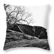 Rock Wave Throw Pillow